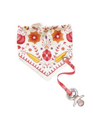Bandana Bib with pacifier holder - Mexican