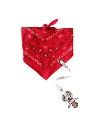 Bandana Bib with pacifier holder - Paisley