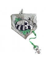 Bandanas Bib Med Napphållare Raccoon