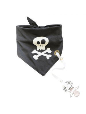 Bandana Bib with pacifier holder - Pirate
