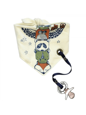 Bandana Bib with pacifier clip - Totem
