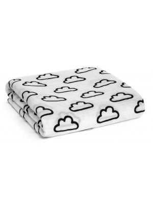 Modern Burlap Clouds