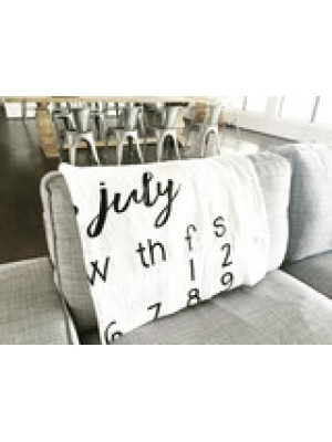 Modern Burlap Swaddle July