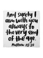 Modern Burlap Filt Matthew 28:20