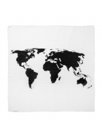 Modern Burlap Filt World Map