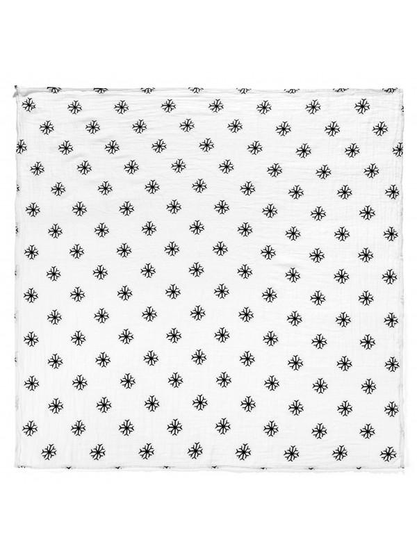 Modern Burlap Snowflakes