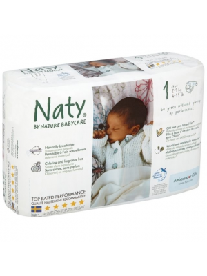 Naty Diapers size 1 2-5 kg 26ct