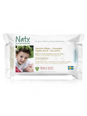 Naty Sensitive Våtservetter Oparfymerade 56st