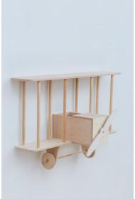 Biplane hylla Dashy - wooden